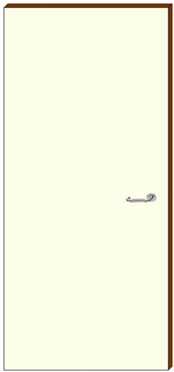 HPL deur - zonder raam